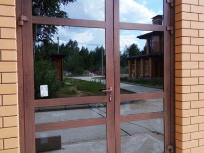 Двери алюминиевые-теплые для магазина