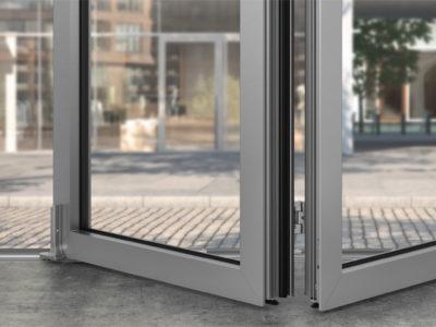 Алюминиевые двери гармошка