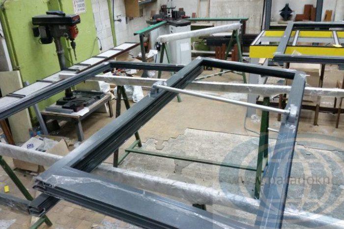 Алюминиевые двери антипаника (5)