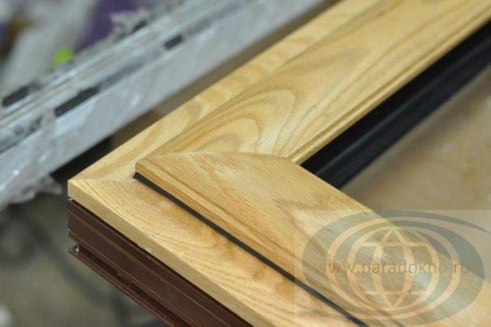 Алюмодеревянные окна производство